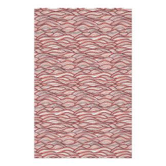 Papelaria Teste padrão de ondas abstrato cor-de-rosa.