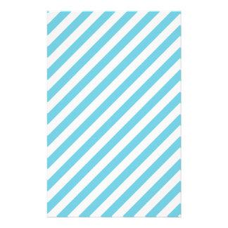 Papelaria Teste padrão diagonal azul e branco das listras