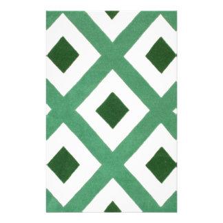 Papelaria Teste padrão do triângulo de Forest Green