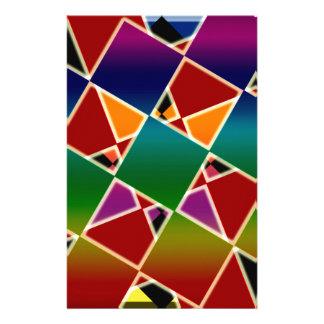 Papelaria Teste padrão esquadrado colorido telhado