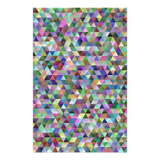 Papelaria Teste padrão feliz do triângulo