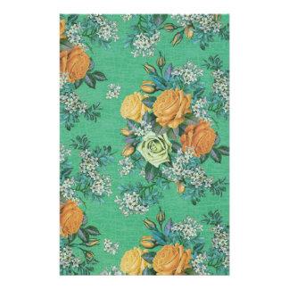 Papelaria teste padrão floral do tema das flores elegantes