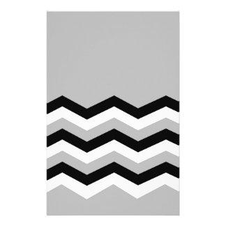 Papelaria Teste padrão geométrico abstrato - cinza, preto e