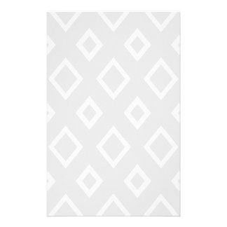 Papelaria Teste padrão geométrico abstrato - cinzas e branco