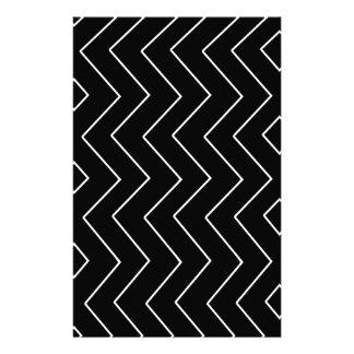 Papelaria Teste padrão geométrico abstrato - preto e branco.