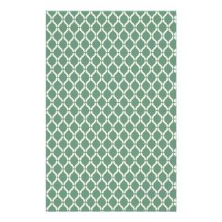 Papelaria Teste padrão geométrico verde