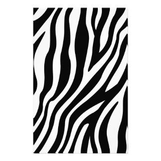 Papelaria Teste padrão preto e branco das listras do