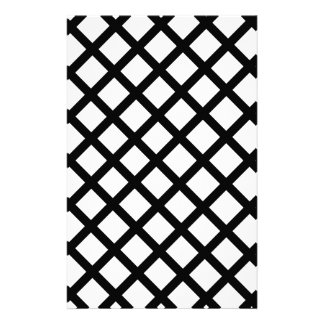 Papelaria Teste padrão simples preto e branco