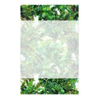 Papelaria Teste padrão verde da queda da floresta da