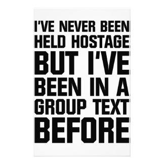 Papelaria Texto do grupo