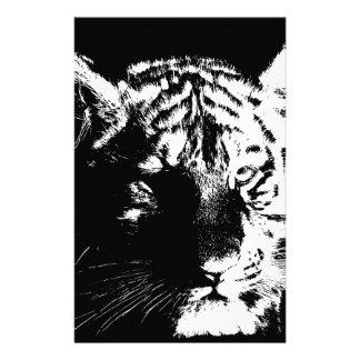 Papelaria Tigre preto & branco do pop art
