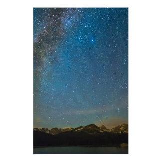 Papelaria Tipo da Via Láctea de Colorado da noite