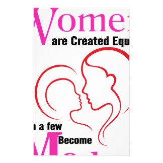 Papelaria Todas as mulheres são semelhante criado então que