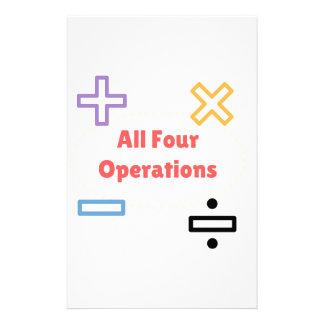 Papelaria Todas as quatro operações