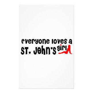 Papelaria Todos ama a menina de um St John