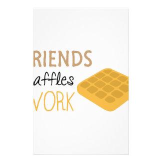 Papelaria Trabalho dos Waffles dos amigos