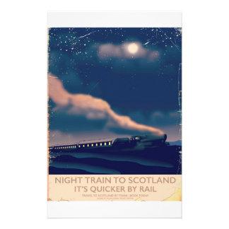 Papelaria Trem de noite a Scotland