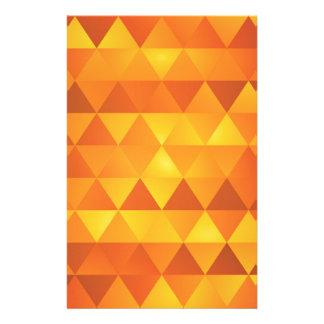 Papelaria Triângulos amarelos abstratos