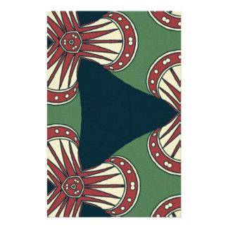 Papelaria Triângulos verdes