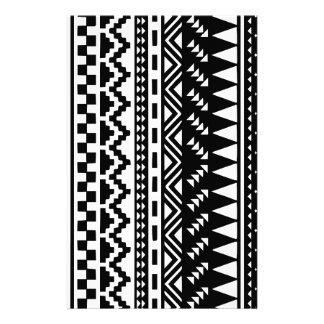 Papelaria Tribal asteca preto e branco