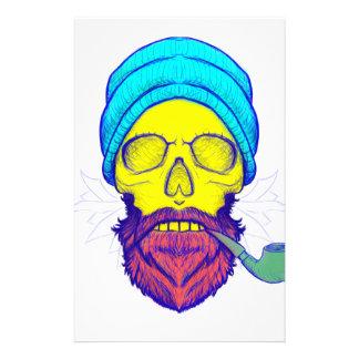 Papelaria Tubulação de fumo amarela do crânio