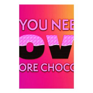 Papelaria Tudo que você precisa é amor ou mais chocolate