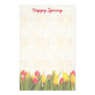 Papelaria Tulipas coloridas do primavera feliz