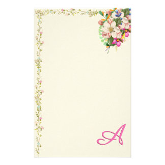 Papelaria Um buquê floral do monograma