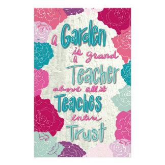 Papelaria Um jardim é um professor