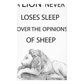 Papelaria Um leão nunca