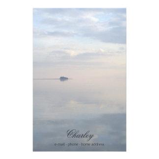 Papelaria Um mar calmo, reflexões e a ilha