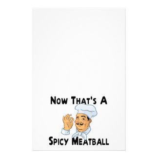 Papelaria Um Meatball picante
