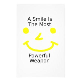 Papelaria Um sorriso é a arma a mais poderosa (o smiley