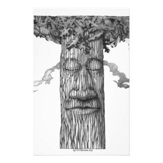 Papelaria Um &W poderoso do cobrir da árvore