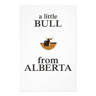 Papelaria Uma Bull pequena de Alberta