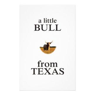 Papelaria Uma Bull pequena de Texas