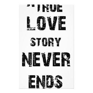 Papelaria uma história de amor verdadeira nunca termina