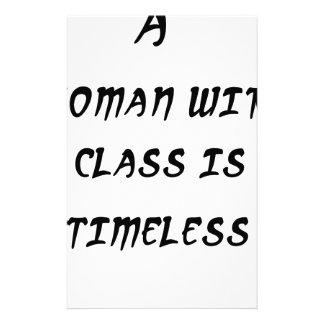 Papelaria uma mulher com classe é intemporal