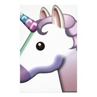 Papelaria Unicórnio bonito Emoji