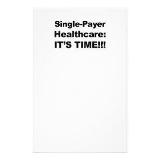 Papelaria Únicos cuidados médicos do pagador - é tempo!