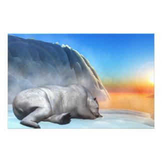 Papelaria Urso polar - 3D rendem