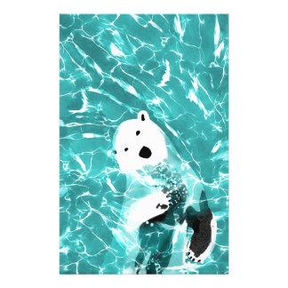 Papelaria Urso polar brincalhão no design da água de