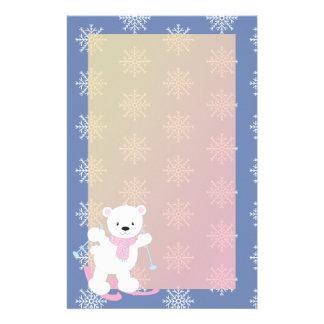 Papelaria Urso polar do esqui adorável