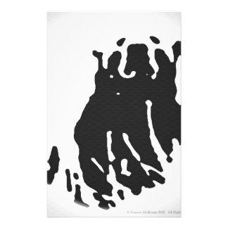 Papelaria Urso polar no cinza