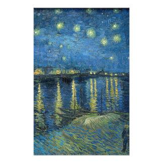 Papelaria Van Gogh: Noite estrelado sobre o Rhone
