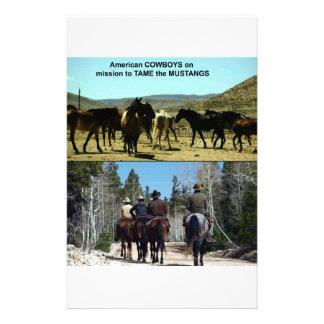 Papelaria Vaqueiros americanos na viagem aos cavalos do