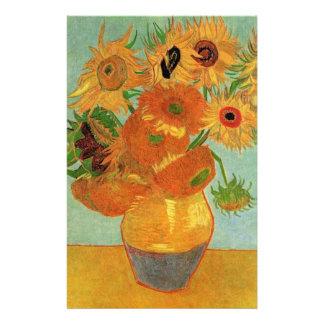 Papelaria Vaso com doze girassóis, Vincent van Gogh.
