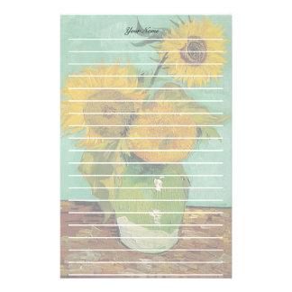 Papelaria Vaso com três girassóis, Vincent van Gogh