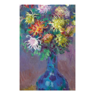 Papelaria Vaso dos crisântemos Claude Monet