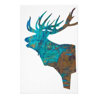 Papelaria veado principal dos cervos nos turquois